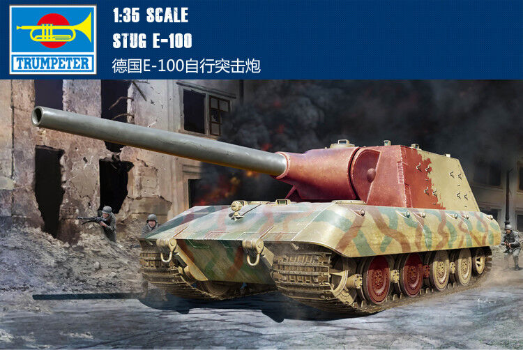 German E-100 Self Propelled Assault Gun Jagdpanzer Model Trumpeter 09542 1 35