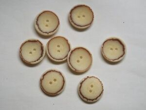 8pc 20mm Dark Brown Faux Bone Coat Suit Cardigan Knitwear Button 4922
