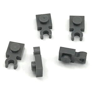 Lego-5-New-Dark-Bluish-Gray-Plates-Modified-1-x-1-with-Clip-Pieces