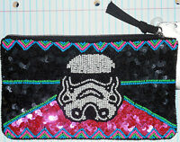 Star Wars Beaded Storm Trooper Beaded Purse Zipper Evening Bag W/tag Rare