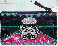 Star Wars Beaded Storm Trooper Beaded Purse Zipper Evening Bag W/tag Rare