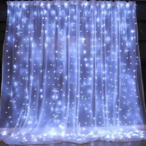 200//300 LED Curtain Fairy Lights Indoor//Outdoor Wedding Party Xmas Room Decor.