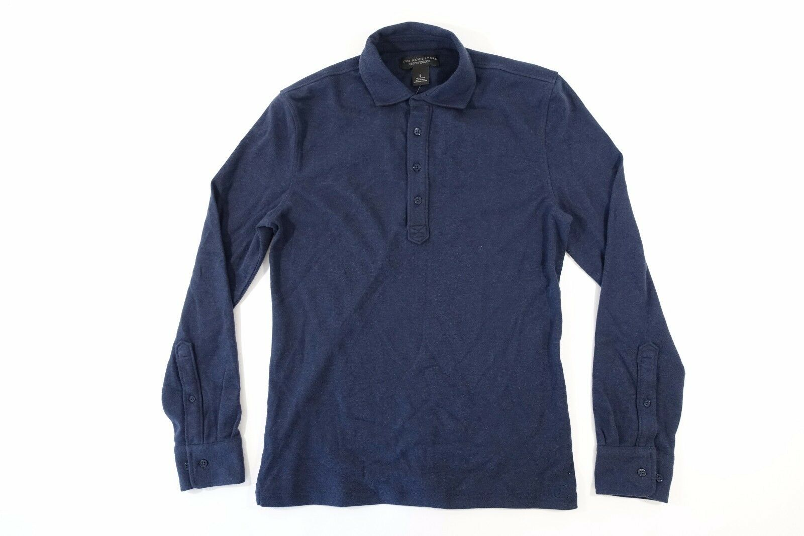 THE MENS STORE blueE SMALL POLO SWEATER MENS NWT NEW