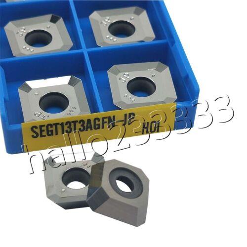 10pcs SEGT13T3AGFN-JP H01 CNC Aluminum inserts cutting lathe tools turning blade