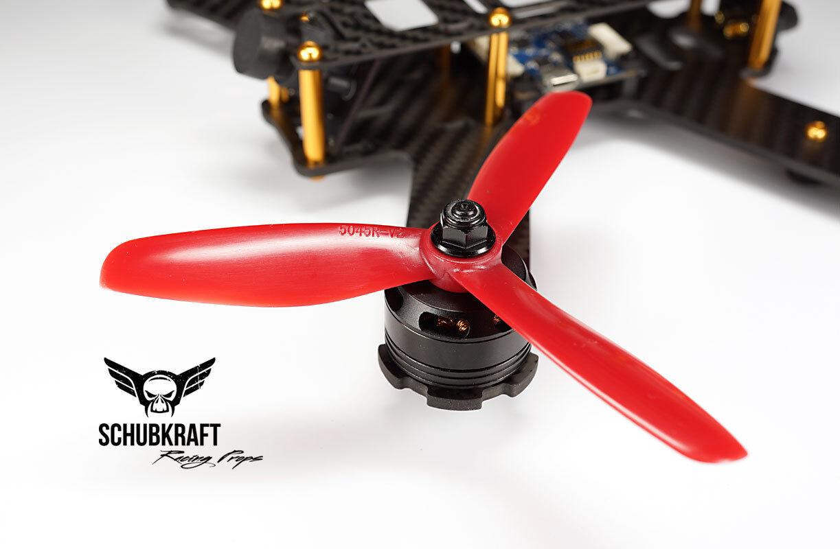5x4.5x3 SCHUBKRAFT Racing Props Naze32 FPV Propeller 5045 F3 Kiss G18 CC3D red