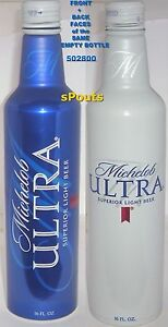 2017 Michelob Ultra Aluminum Beer Bottle Can Twist Off