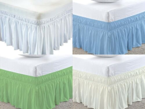 All Bed Skirt Poly Cotton Multi Size /& Color 15 Inch Drop Length