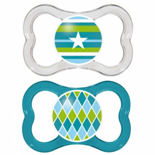 Soother 4-24 months 2 PACK with Sterilizing Box BPA FREE MAM BabySilicone Dummy