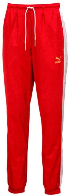 dedo para La base de datos  Puma Men's T7 BBOY TRACK PANTS Red/White 574980-42 c for sale online