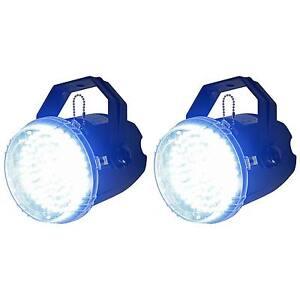 (2) New American DJ ADJ Big Shot LED II Compact White LED Strobe Effect Lights