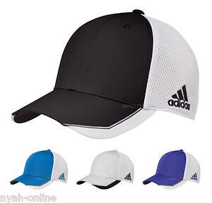 NEW adidas FLEXFIT CAP FITTED MESH BASEBALL GOLF TRUCKER PEAK HAT ... 1c6e8d68d29
