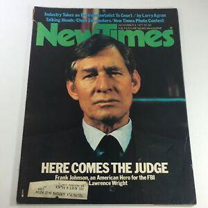 VTG-New-Times-Magazine-December-9-1977-Frank-Johnson-American-Hero-For-FBI