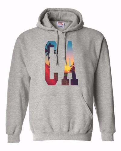 NW MEN PRINTED CA CALIFORNIA TUMBLR PHOTO HIPSTER HOODED JACKET PULLOVER HOODIE