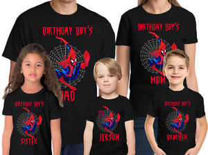 Image Is Loading Spider Man Birthday Shirt Name And Age Personalized