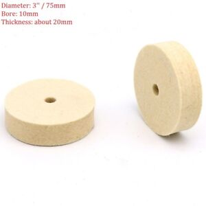 Marvelous Details About 2Pcs 3 75Mm Wool Felt Polishing Wheel Polisher Buffing Pad Disc Bench Grinder Ocoug Best Dining Table And Chair Ideas Images Ocougorg