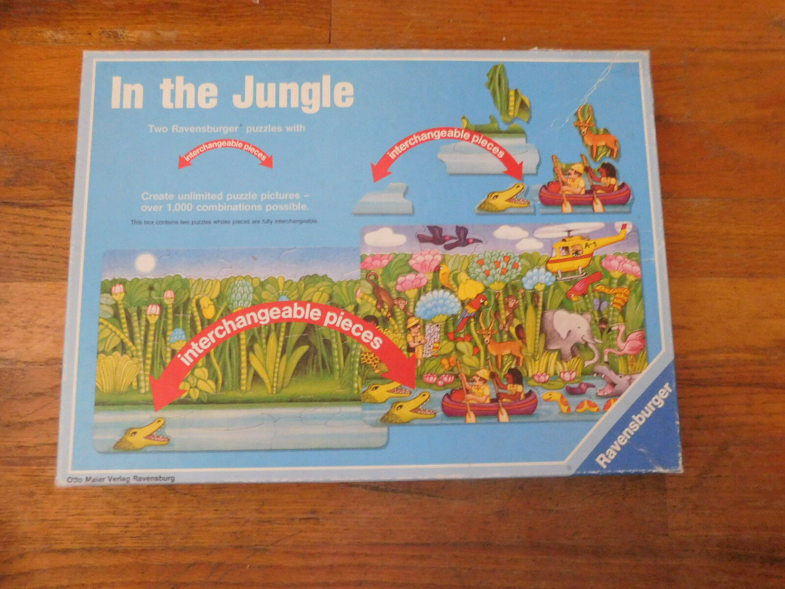 In The Jungle Two Ravensburger puzzles with  interchangeable pieces  prima i clienti