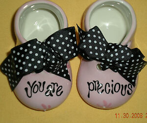 Figurine Precious Blessings Pink Baby Girl Shoes