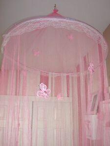 Princess-Bed-Canopy-Net-Mesh-Hoop-Glitter-Butterflies-Class-Reading-Nook-Tent
