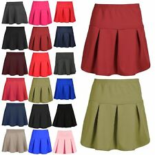 aba9c15e23f item 4 Women Girls High Waist Pleated Stretchy Flared Swing Mini Shorts Skirt  Plus Size -Women Girls High Waist Pleated Stretchy Flared Swing Mini Shorts  ...