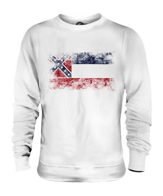 MISSISSIPPI STATE DISTRESSED FLAG UNISEX SWEATER TOP MISSISSIPPIAN SHIRT GIFT