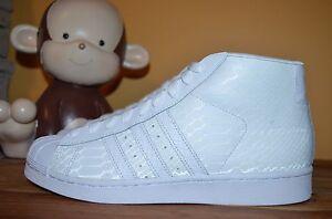 NEW ADIDAS PRO MODEL Classic Shoes Snakeskin SZ 8.5 9 9.5 13 Triple White D69287