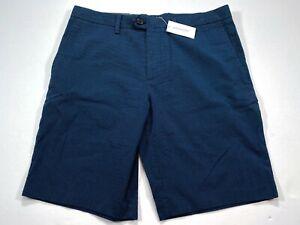 Banana-Republic-Aiden-Shorts-32x10-Blue-Stripe-Men-039-s-Shorts-NEW-NWT