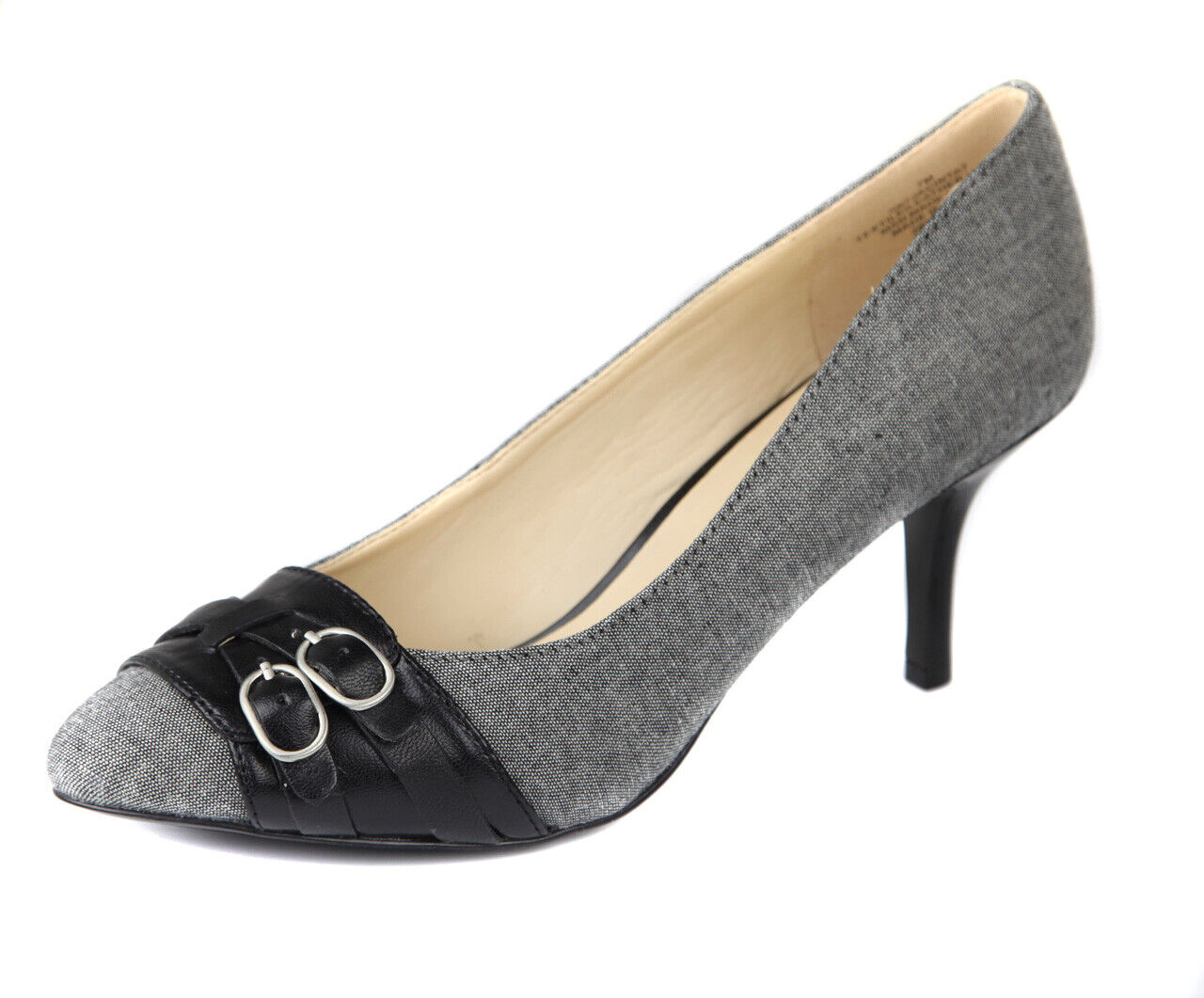 Nine West Damen Grau Schwarz Jacinta High Heels Pumps Schuhe Ret. Neu
