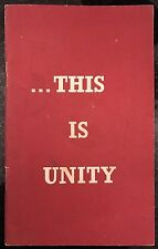 This is Unity published by The Grail Christian Booklet Loreto Convent Omagh