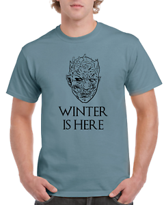 Game-Of-Thrones-Night-King-Winter-Is-Here-White-Walker-Blue-GOT-T-SHIRT-S-XL