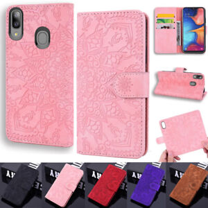 Lotus-Wallet-cuir-Flip-Case-Cover-Pour-Samsung-A10-A20E-A30S-A50S-A10S-A20S-S9