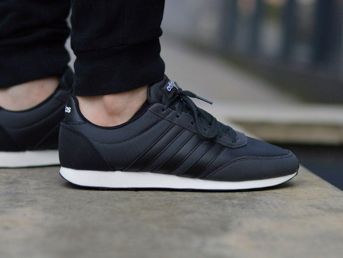 Adidas para hombre V Racer Neo Deporte Estilo Caminar Zapatos Tenis Core B75799 Negro Nuevo