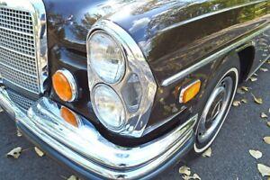 4x Mercedes W108 W111 Umrüst Scheinwerfer komplettes Set - US auf EU Umbau W109