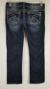 Silver Womens Medium 28 Wash Capris Jeans Santorini BABzRSq