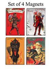 Krampus Devil Magnets Set of 4