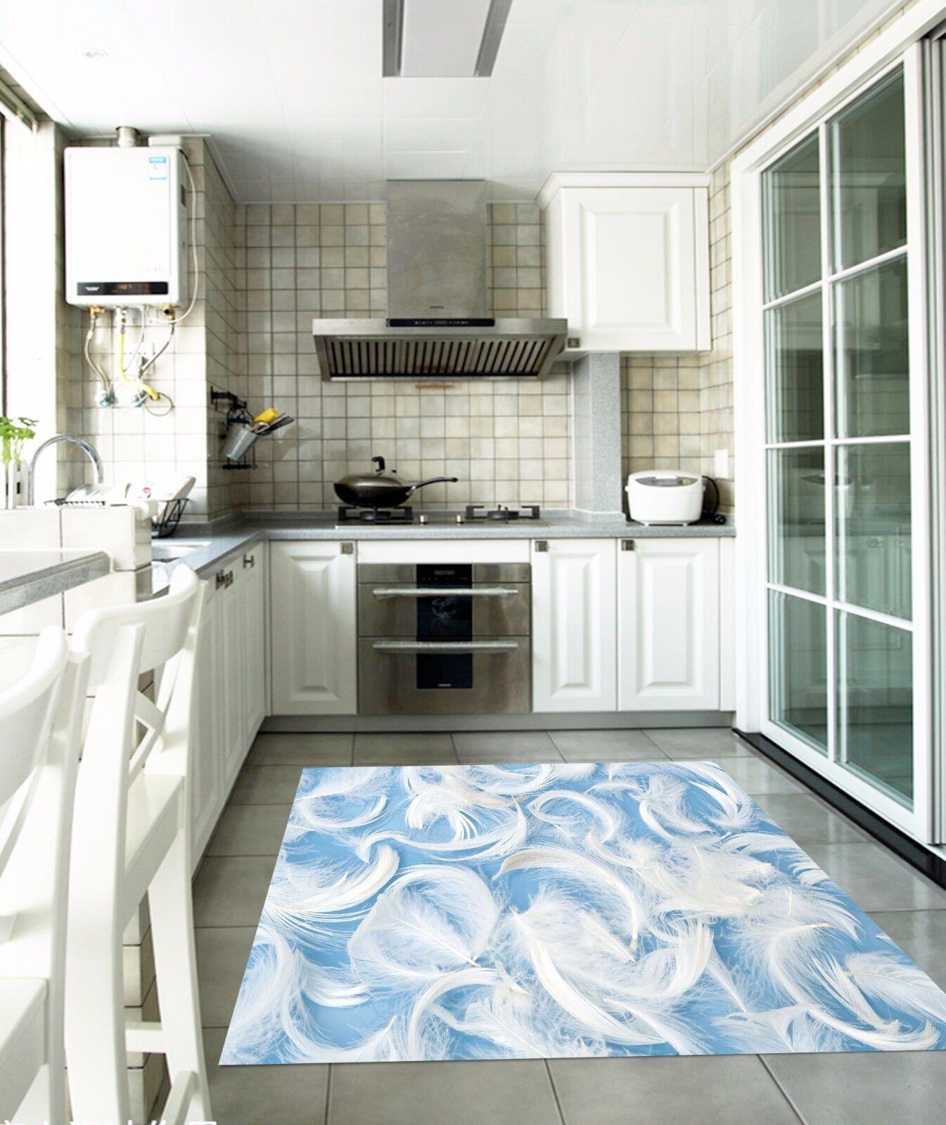 3D Feather 722 Kitchen Mat Floor Murals Wall Print Wall AJ WALLPAPER UK Kyra
