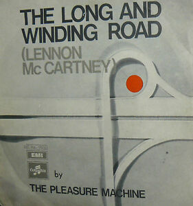 THE-LONG-AN-WINDING-ROAD-BEATLES-7-034-BY-THE-PLEASURE-MACHINE-PS-ITALY-1970