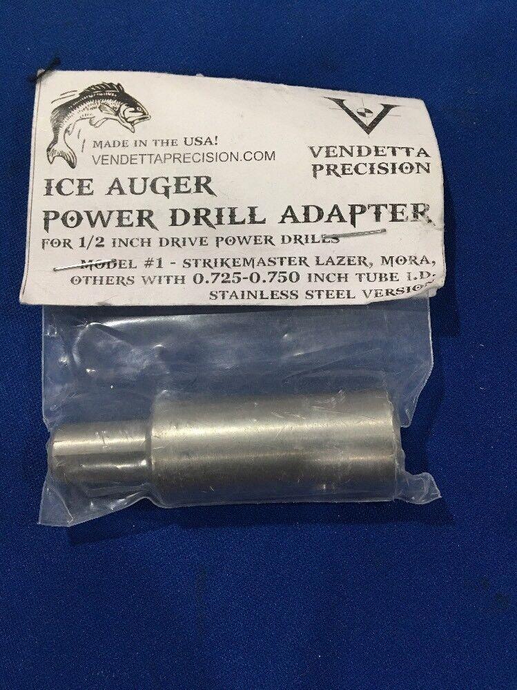 "Vendetta Precision Ice Auger Power Drill Adapter For 1 2"" Drills Model strike"