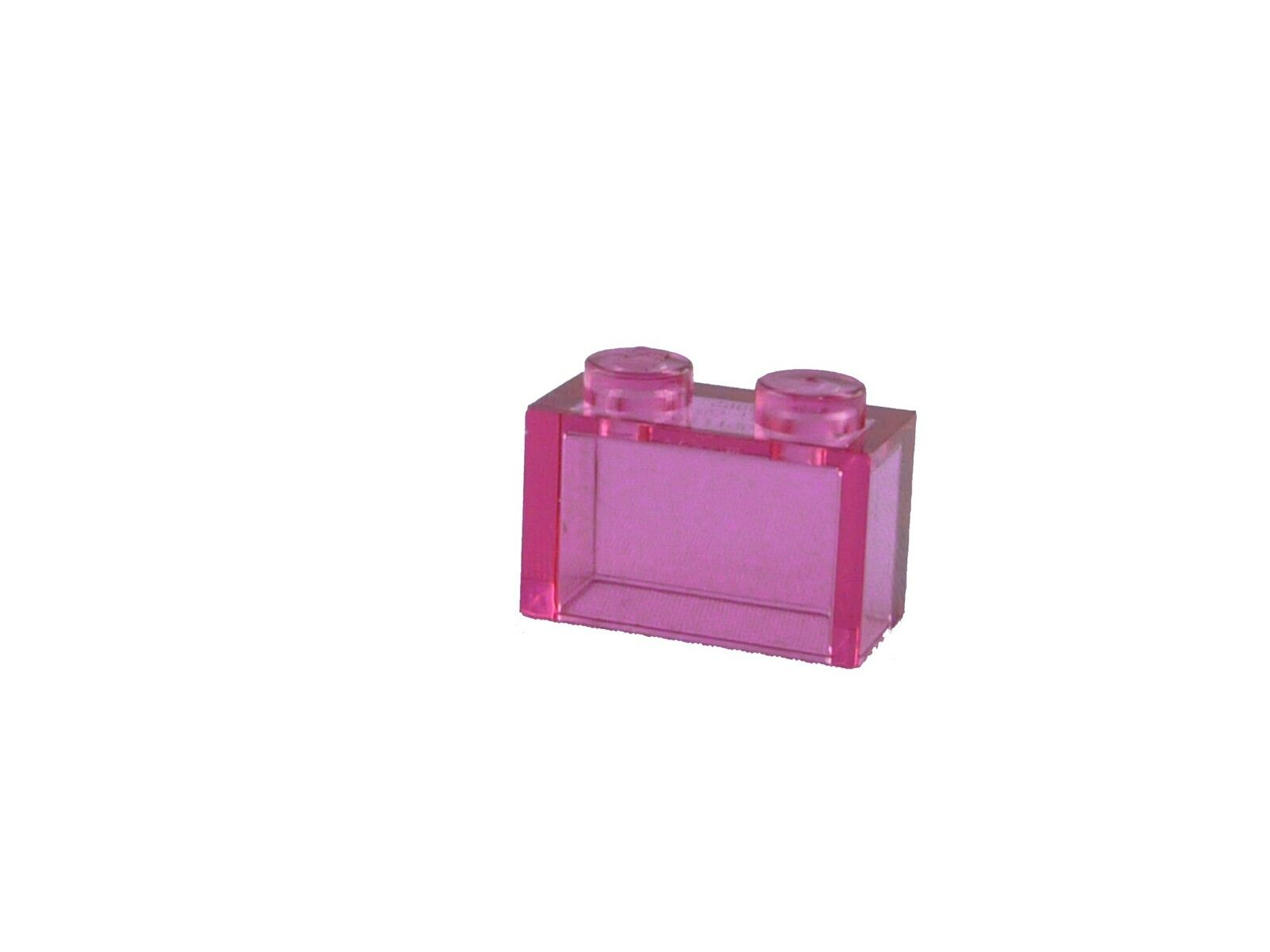 Lego New 50 Trans-Dark Pink Bricks 1 x 1 Transparent Building Blocks