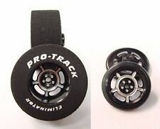 "Pro Track ""Daytona Black"" 1 1/16"" x .500 Rr & Ft Drag 1/24 Slot Car Tires"