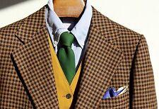 Lanvin 44R Vintage Gentleman's Brown Houndstooth Check Camelhair Sport Coat