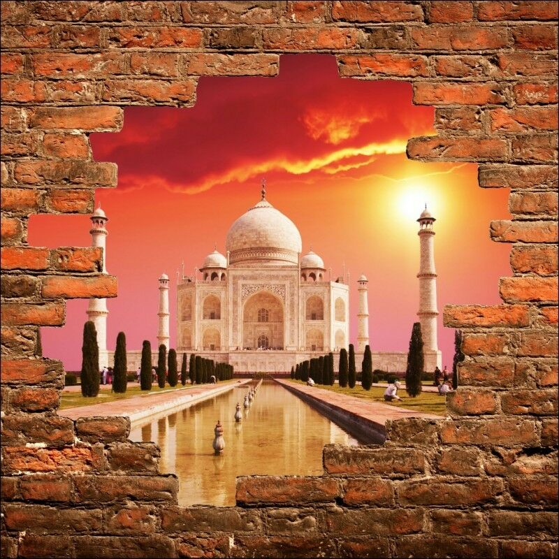 Adhesivo de pared trampantojo trampantojo Taj Mahal 809