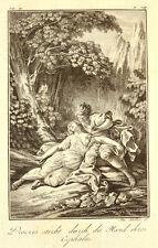 1791 Ovid Metamorphosen Kephalos und Prokris Cephalus Procris Kupfer von Stöber