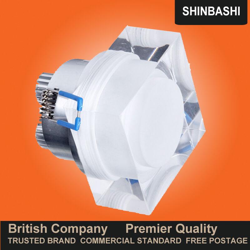LED réglable premier lentille de cristal Carré Plafond Mur Spot bas de lumière lumières bas Spot UK 86aa24