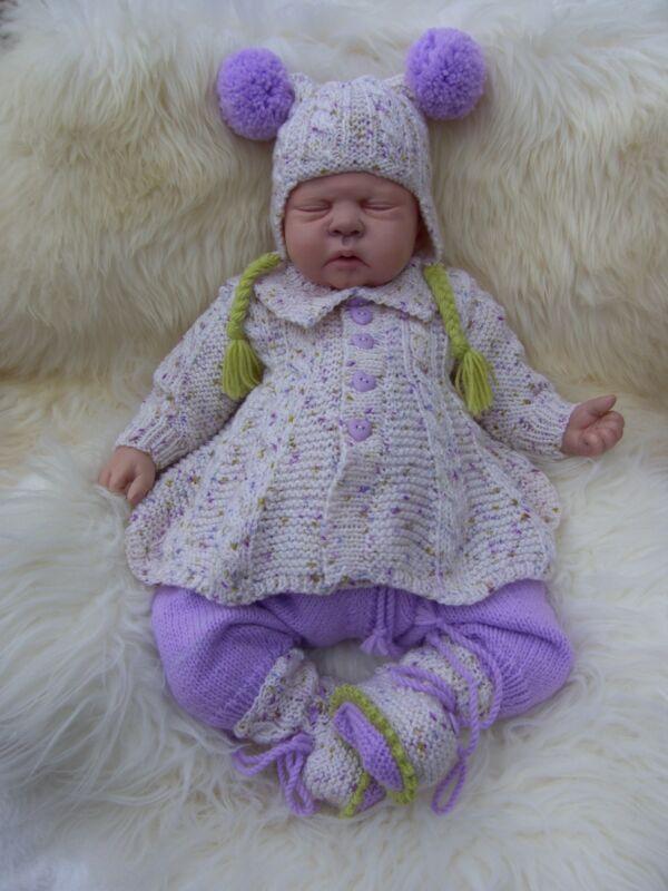 Creo Que * * En * Ángeles Viernes's Child 4 Piezas Juego De Lila Para Un Recién Nacido/bebé Reborn-ngels Friday's Child 4 Pce Lilac Set For A Newborn/reborn Baby