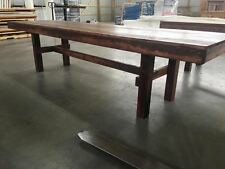 10ft Farmhouse Barnwood Farm Style Dining Table   Amish Made BRAND NEW