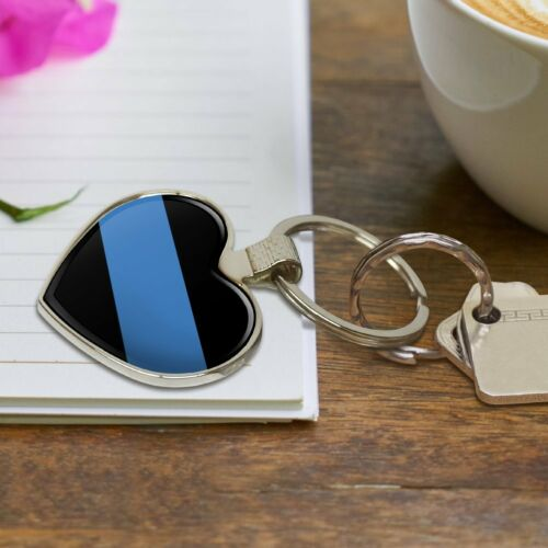 Thin Blue Line police policiers Law Enforcement COEUR LOVE en métal Keychain