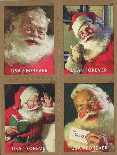 CHRISTMAS STAMPS COMPLETE SET U.S VINTAGE COCA-COLA ADVERTISING SANTA CLAUS