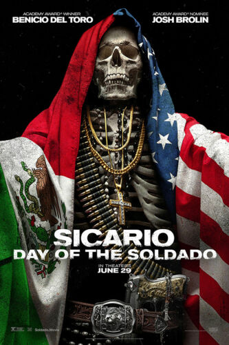 "Sicario Day of the Soldado Art Poster 48x32/"" 40x27/"" Movie 2018 2 Print Silk"