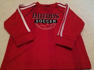 c272b77d1 New Adidas Toddler Boys Brick Red Long Sleeve Soccer Jersey Shirt ...