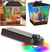 Aqua Culture Aquarium 1 Gallon Betta Tank Starter Kit Original Aquaview Lighting